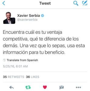 Xavier Serbia, Ventaja Competitiva, Twitter, FODA, DAFO